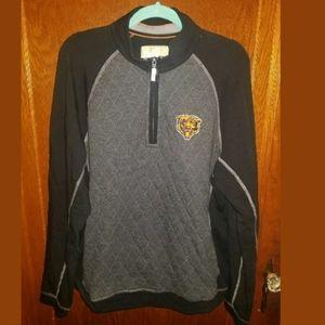 Tommy Bahama Football Bears 1/4 Zip Sweatshirt L